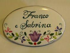 (CODICE ARTICOLO: TP/70) Mattonella in ceramica dipinta a mano. Tecnica: maiolica