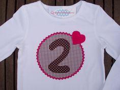 """Langarmshirts - Geburtstagsshirt """"2 Jahre"""", auf Wunsch mit Namen - ein Designerstück von zwergenschneiderin bei DaWanda"""