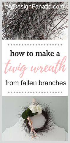 Make a wreath from f