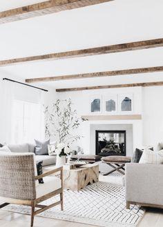 Minimal farmhouse living room