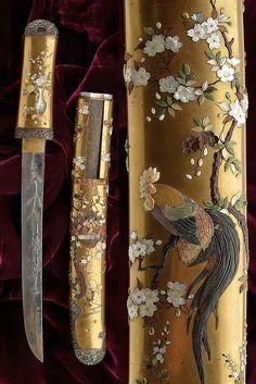 Japanese Blades, Japanese Sword, Swords And Daggers, Knives And Swords, Diamond Brooch, Art Deco Diamond, Samurai Weapons, Katana Swords, Sword Drawing