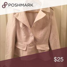 Bebe coat Winter white pleaded coat blazer bebe Jackets & Coats