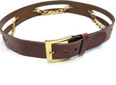 Brown Leather Belt Vintage Anne Klein Size S by sweetie2sweetie