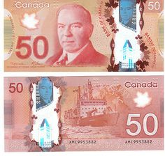 Graphic Design Class Assignment Inspiration: New 50 Canadian Note
