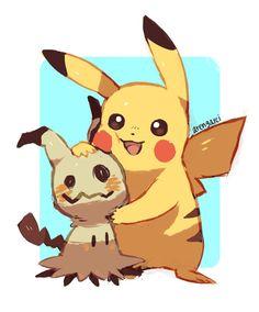 Mimikkyu and Pikachu