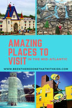 Find fun places to visit with kids in New Jersey, Maryland, Virginia, and Pennsylvania.  Family fun places to visit.  Traveling with kids.