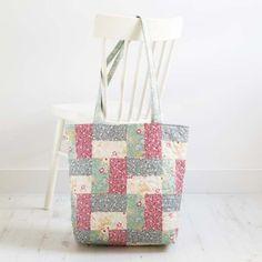 Reversible Patchwork Bag Kit (Tilda Cabbage Rose & Memory Lane)
