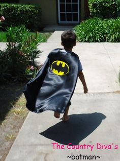 Superhero Cape (batman)- I so want to buy Brydon one of these.