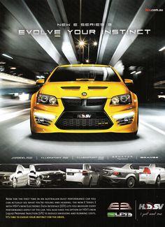 2011 VE Holden HSV E Series 3 Aussie Original Magazine Advertisement Holden Monaro, Holden Hsv, Period Color, Holden Australia, Aussie Muscle Cars, Australian Cars, Performance Cars, General Motors, New Series