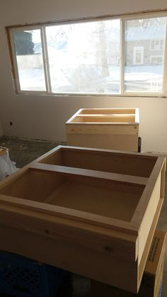 Preparing stock, unfinished cabinetry.  If you know you will need to add some filler pieces, make sure you attach blocking before hand to each side.
