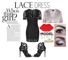 """Lovely Lace"" by omgitssabby ❤ liked on Polyvore featuring mode, Topshop, Lulu Guinness, Coast, Sephora Collection, Eddie Borgo, outfit, NightOut, evening et lacedress"