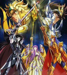 Aioria, Seiya, Hades, Athena & Poseidon