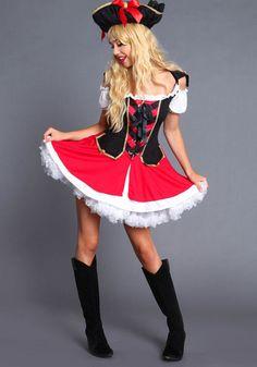 Cute pirate costume.