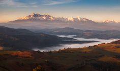 Mountain morning II by Jozef Mačutek  ~ taken from Slovakia, yet ever-so-close to the border with Poland... from the Pieniny area toward the Tatras.  Bravo!