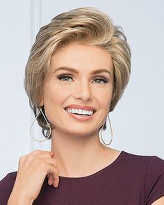 Vantage Point Mono Lace Front Wig By Gabor Brand Strawberry Blonde Highlights, Golden Blonde Highlights, Natural Hair Growth, Natural Hair Styles, Gabor Wigs, Raquel Welch Wigs, Neutral Blonde, Short Wigs, Short Hair