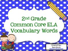 Polka-dotted Vocabulary Words!