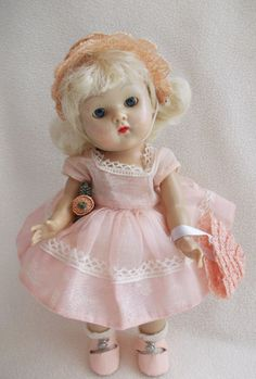 "Vogue Strung Ginny Doll 1952 ""Original Vogue Dolls Inc."" Tagged Complete Outfit #Dolls"