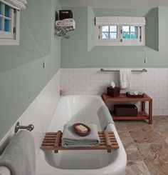 House of Turquoise ~ I love the built in bathtub. It has that vintage look with the pure clean function of a good soaker tub Add A Bathroom, Bathroom Plumbing, Bathroom Windows, Bathroom Layout, Bathroom Ideas, Bath Ideas, Basement Toilet Pump, Basement Bathroom, Basement Window Treatments