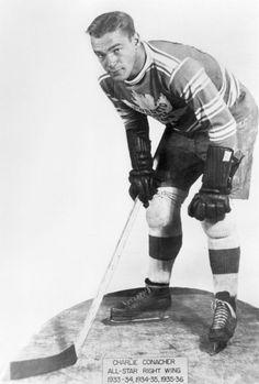 Photo of Charlie Conacher circa Maurice Richard, Ice Hockey Teams, Sports Teams, Hockey Highlights, Poke The Bear, Air Canada Centre, Vintage Jerseys, Good Old Times, National Hockey League