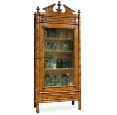 Check out our gorgeous French bamboo cabinet, inspired by a French century antique! This armoire cabinet has one drawer and four shelves for your convenience where you can put any of your belongings. Whether you want to use this cabinet for display o Bamboo Furniture, Antique Furniture, Furniture Decor, Distressed Furniture, French Furniture, Oriental Furniture, Classic Furniture, Furniture Styles, Bamboo Cabinets