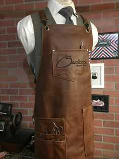 Leather Apron, Sewing Leather, Leather Craft, Leather Fanny Pack, Leather Crossbody Bag, Western Holsters, Barber Apron, Barber Shop Decor, Shop Apron