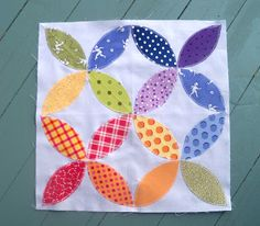 Sewn: Block 19 - Orange Windows - want this for a mini quilt