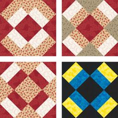 Free Quilt Block Patterns: Mother's Dream Quilt Block Examples