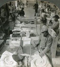Italian sculptors workshop Cartes postales Pierres-Info
