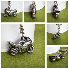 A personal favourite from my Etsy shop https://www.etsy.com/sg-en/listing/202166547/3d-silver-plated-metal-motorcycle-key