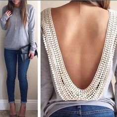 HPAdorable backless top!! S-xl available!! Super cute backless top! I recommend going up a size from your normal! The second and third photo are of me in mine!! Tops