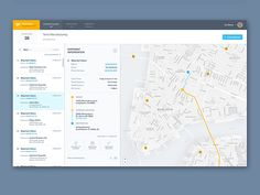 Delivery interface designed by Ivo Dimov. Connect with them on Dribbble; Dashboard Ui, Dashboard Design, Ui Ux, App Ui, Interaktives Design, Flat Design, Layout, Mobiles Webdesign, Web Mobile