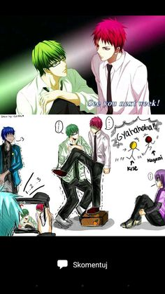 Kuroko no Basket (黒子のバスケ) - The Generation of Miracles (キセキの世代 ) Me Anime, Fanarts Anime, Anime Meme, Otaku Anime, Anime Guys, Kuroko No Basket, Hiro Big Hero 6, Desenhos Love, Yandere Manga