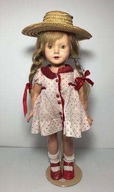 Effanbee Dolls, Girls Dresses, Flower Girl Dresses, Vintage Dolls, Harajuku, Composition, Detail, Wedding Dresses, Face