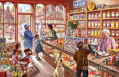 The Sweetshop ©Steve Crisp ~ ~ ~ really love this guy's art!