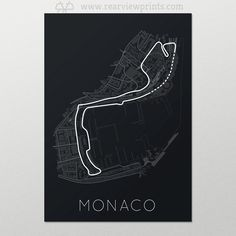 Auto Art, Car Prints & Petrol Driven Posters   Check it out, The Stage Of Real Sport – Monaco Race Track F1 Print  From the Hairpin to the Portier, the features of the Monaco race track are beautiful in their presentation and the challenge they present.  When our designers set out to choose a new track to honor, we knew it had to be a street track like no other. The result is this handsome print, allowing you to own every amazing detail.