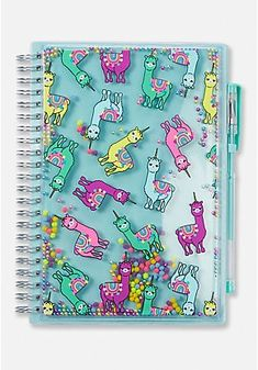 Justice is your one-stop-shop for on-trend styles in tween girls clothing & accessories. Shop our Llamacorn Shaky Spiral Journal. Justice School Supplies, Cool School Supplies, Cool Stationary, Stationary School, Cute Journals, Cute Notebooks, Desk Essentials, Galaxy Makeup, Unicorn Fashion