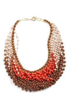 Statement of the Art Necklace in Coral | Mod Retro Vintage Necklaces | ModCloth.com