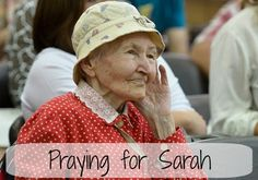 For those times when you need a little encouragement...Praying for Sarah | www.thereisgrace.com