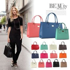 Trendy Women Bags ♥ Square Tote Shoulder bag 3 size type & 10 colors ! Amazing hot price :)