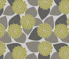 dahlia flower printed wallpaper