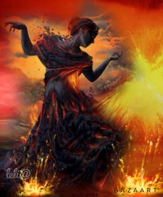 Dança do Fogo... Fire Dance... - Lelia  Sarda