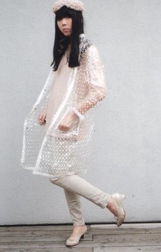 Clear vintage style raincoat
