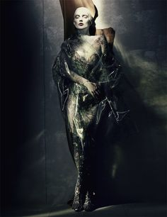 Kate Moss is cast in the shadows and caught in the storm 'Painted Lady' a tale of high fashion art by Paolo Roversi, W Magazine, April 2015 Paolo Roversi, Kate Moss, Fashion Art, Editorial Fashion, Trendy Fashion, Moss Fashion, Fashion Pics, Runway Fashion, Natalia Vodianova