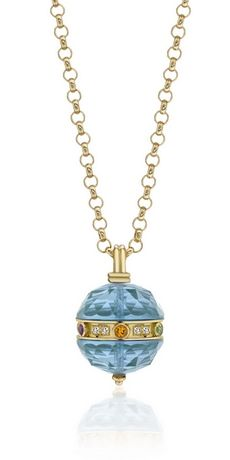 Gem Stone King 1.27 Ct Mango Mystic Topaz Black Diamond 18K Rose Gold Plated Silver Pendant