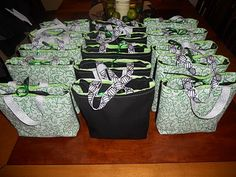 how to make fabric Goody Bags