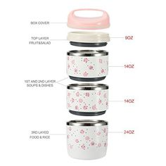 c29a3dbd2c08 Maiyuansu Bento Lunch Box Stainless Steel Leak Proof Food Storage Containers  Insulated Lunch Bag Adults Kids (3-Tier