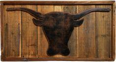 Longhorn Steer Silhouette Boho Chic Decorative Bull Head