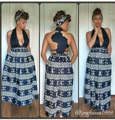 The back of this African maxi dress tho. #slayage