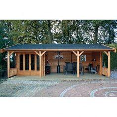 Lugarde Kingswood Log Cabin Footprint x Garden Log Cabins, Backyard Cabin, Backyard Gazebo, Backyard Sheds, Backyard Patio Designs, Outdoor Pergola, Wooden Garden Gazebo, Summer House Garden, Hot Tub Garden