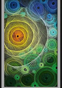 Discussion on LiveInternet - Russia . String Wall Art, Nail String Art, Psychedelic Decor, Arte Linear, Pictures On String, Mandala, String Art Patterns, Homemade Art, Thread Art